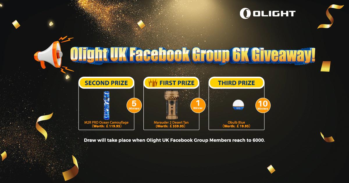 Olight UK Facebook Group 6K: Huge Giveaway!!