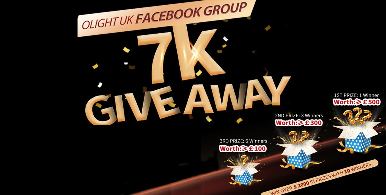 Olight UK Facebook Group 7K: Huge Giveaway!!
