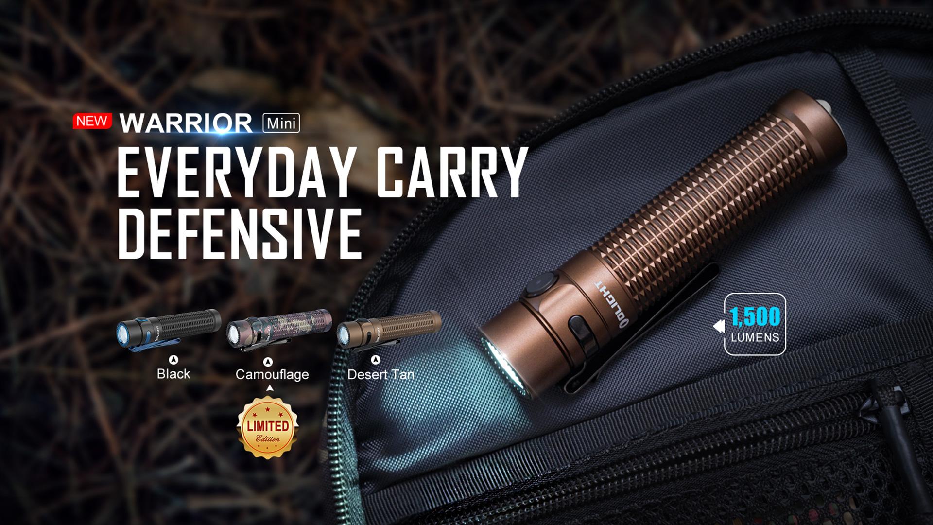 Olight Warrior Mini – A Super Powerful EDC Torch