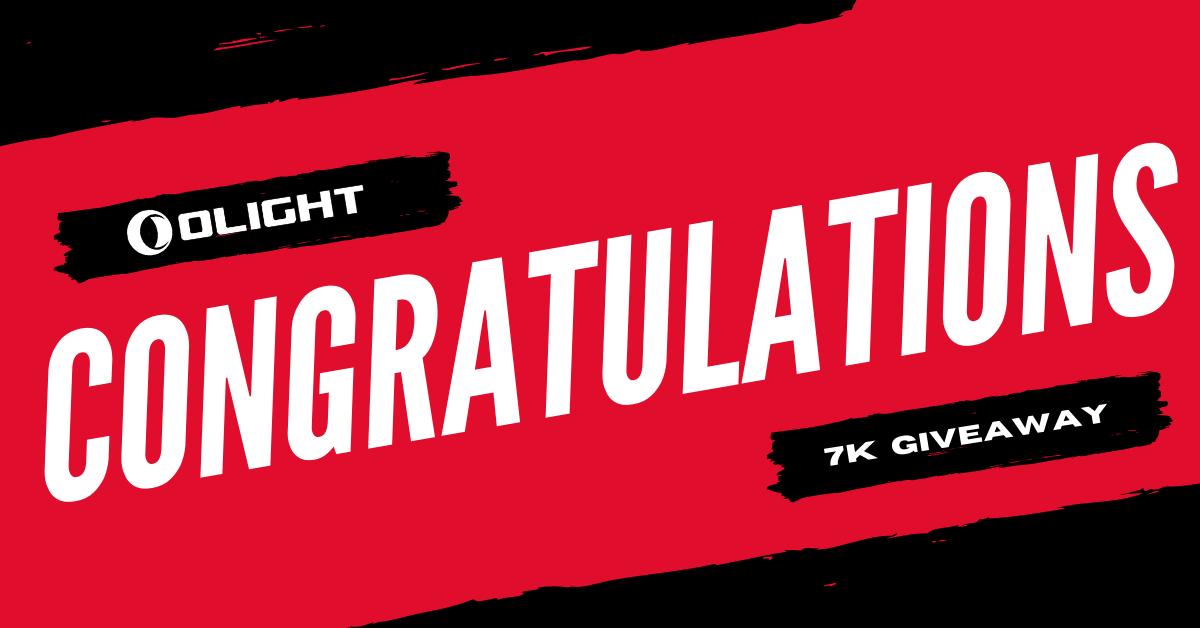 Congratulations | 7K Giveaway Winners Announcement
