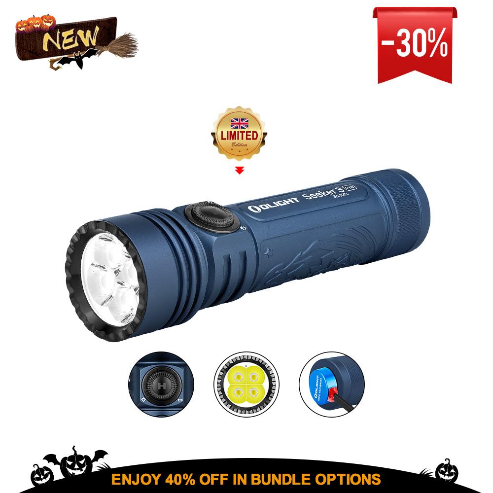Olight Seeker 3 Pro Midnight Blue 4200 Lumens Bright Torch