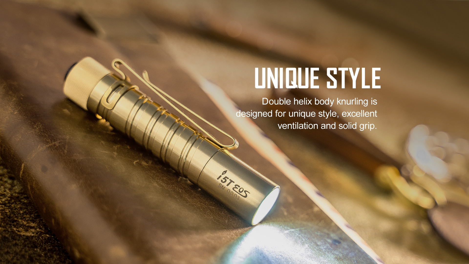 olight i5t,i5t brass,edc torch
