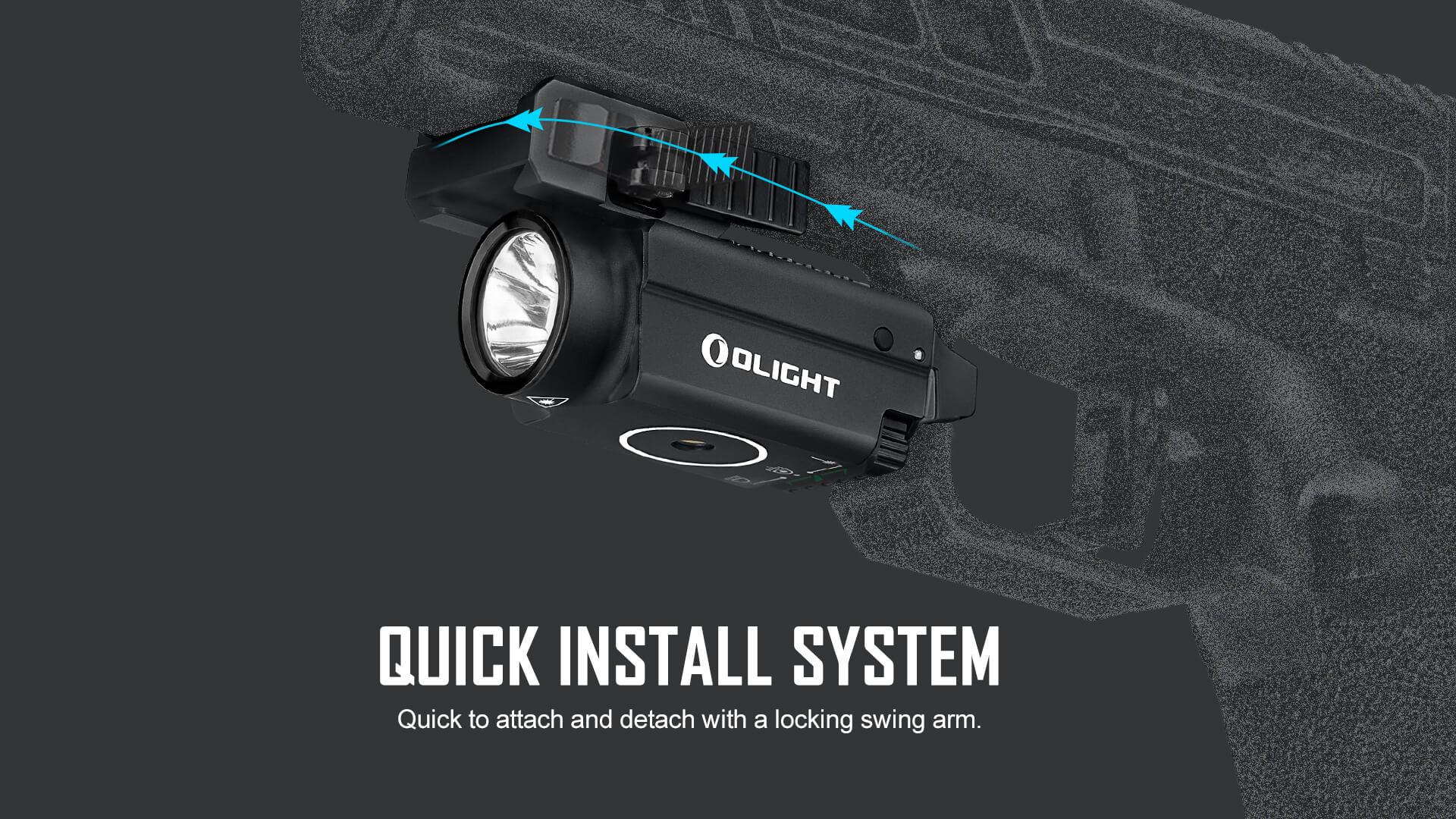 olight baldr s 800 lumen green laser light